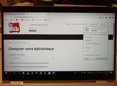 bibliotheek halle franstalig contactformulier